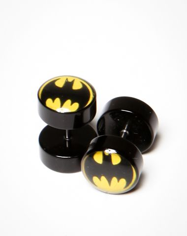 Batman Logo Fake Plugs  $9.99