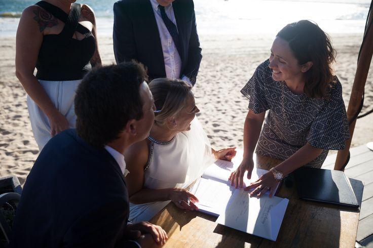 Such a beautiful and stylish beach wedding.