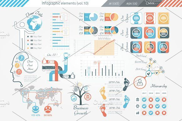Infographic Elements (v10) by Infographic Paradise on @creativemarket