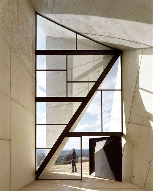 designboom: the faceted window inside a chapel in valleaceron designed by S.M.A.O. #architecture #designboom