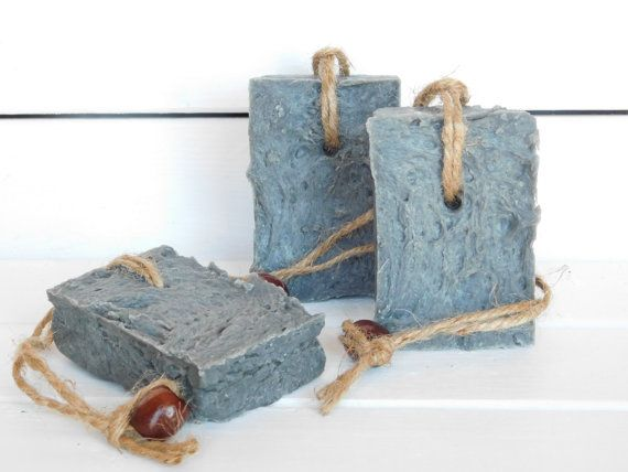Peppermint Soap on a Rope, Natural Charcoal Soap, Soap on a Rope, Vegan Soap on a Rope, Natural Soap on a Rope, Men's Soap on a Rope