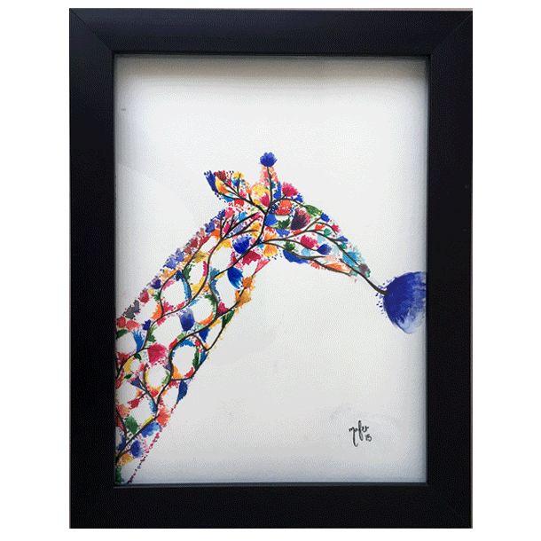 Jirafa - Watercolor #Art3Mas