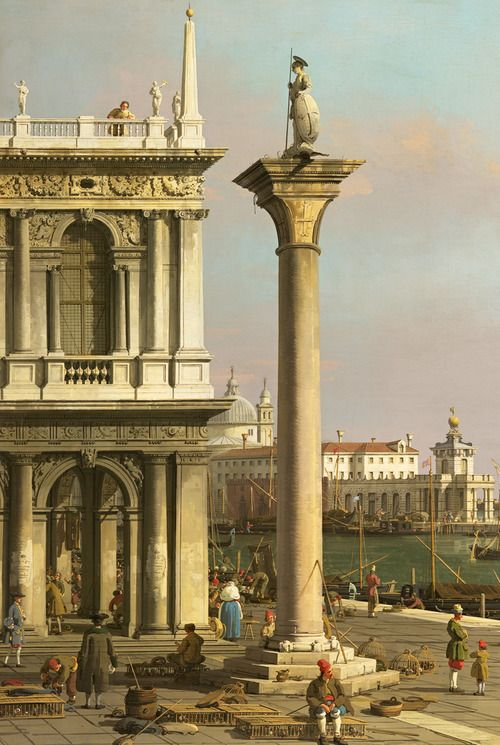 Bacino di S. Marco from the Piazzetta - Canaletto. Detail.