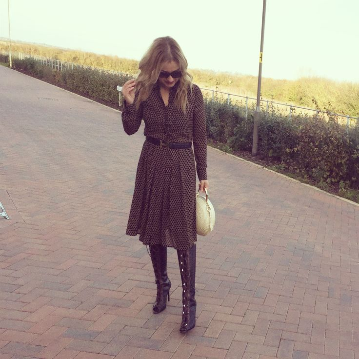 Lace up boots, fall fashion