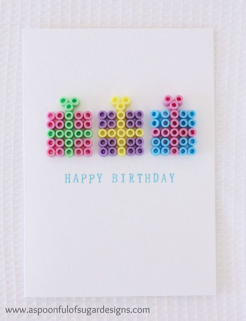 Quick Cards Using Hama Beads | A Spoonful of Sugar