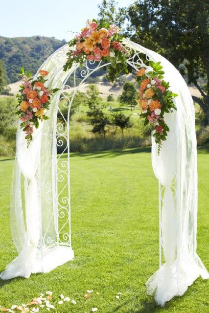 25 best ideas about wedding arch tulle on pinterest for Arch decoration pictures