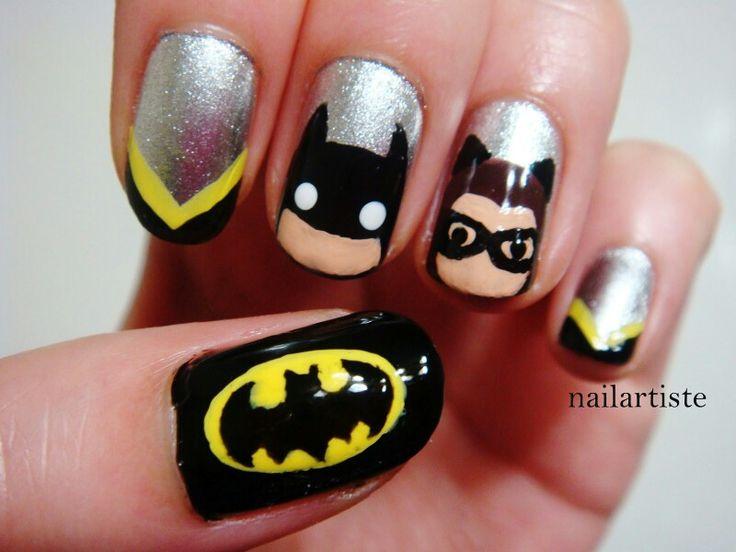 32 best batman nail art images on pinterest nails make up and batman nail art prinsesfo Image collections