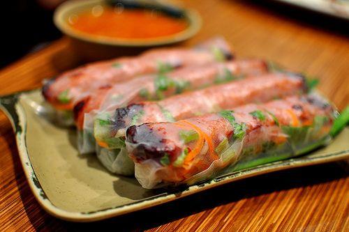 Best Vietnamese grilled pork spring rolls aka nem nuong ever! Brodard fan for life!