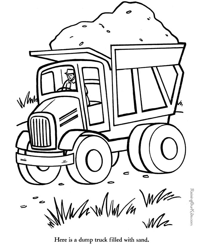 free coloring pages cars and trucks | 17 Best images about Color sheets on Pinterest | Monster ...