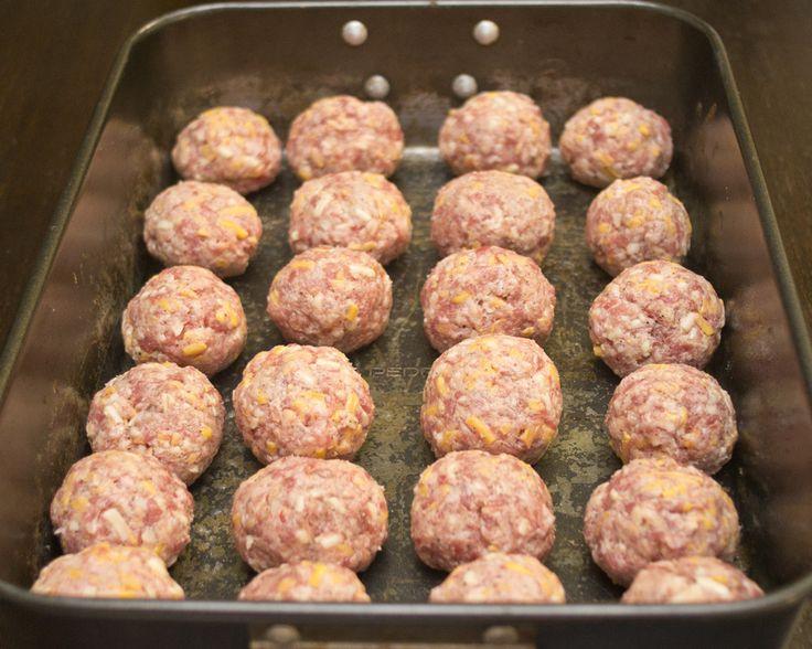 Armadillo Eggs - sausage balls stuffed w/ jalapeño cream cheese -- flavor bombs!