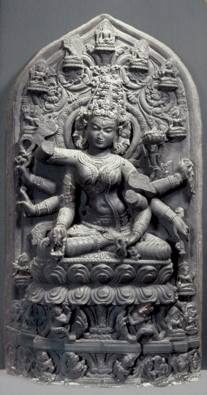 The Buddhist deity Vajra Tara 1075-1200. India, perhaps Nalanda, Bihar state. Stone.