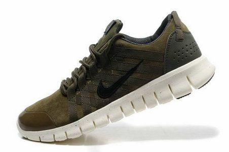 Mens Nike Free Powerlines Suede Army Green