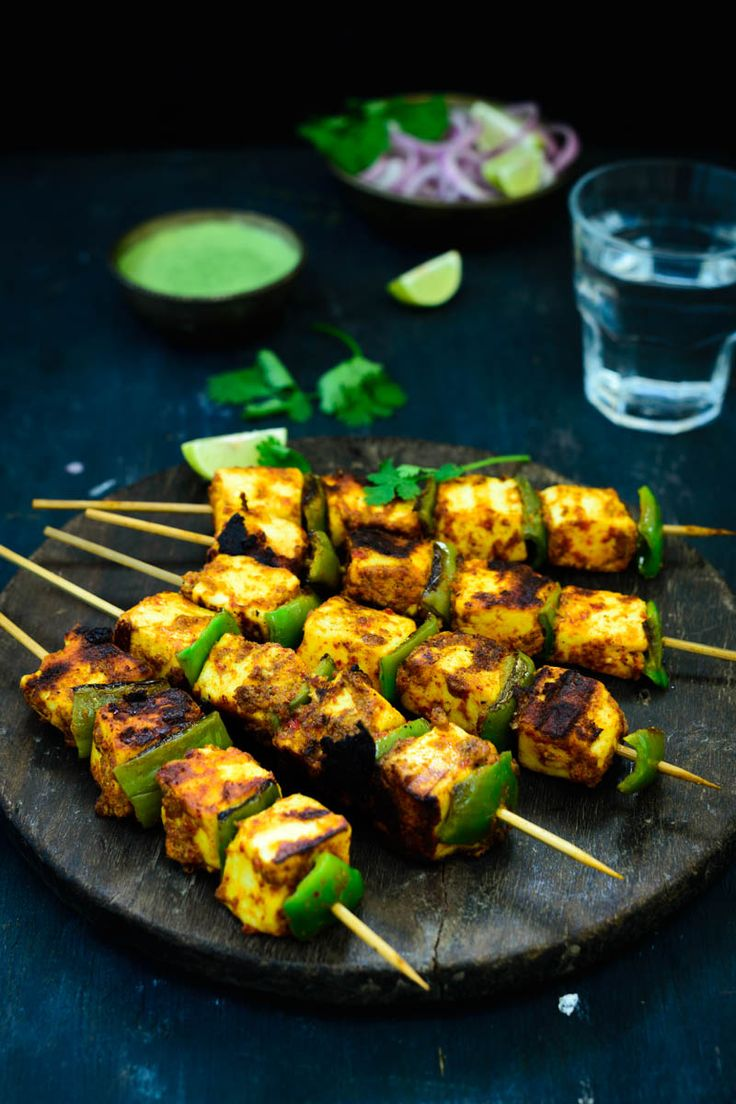 Achari paneer Tikka…Paneer pieces marinated in an Achari Marinade and grilled till nicely browned,
