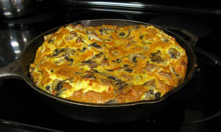 Sausage and Mushroom Frittata - The Paleo Mom