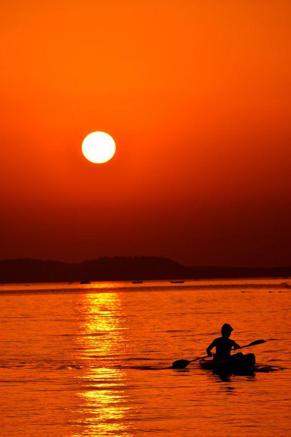 Sunset in Halkidiki, Greece