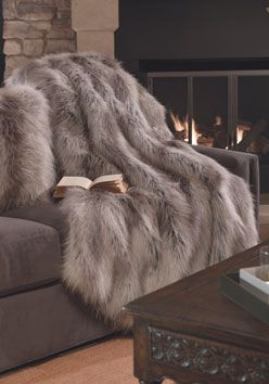 Silver Fox Limited Edition Faux Fur Throws Donna Salyers' Fabulous-Furs World's Finest Faux Fur #FauxFur #FabulousFurs Shop Now: fabulousfurs.com