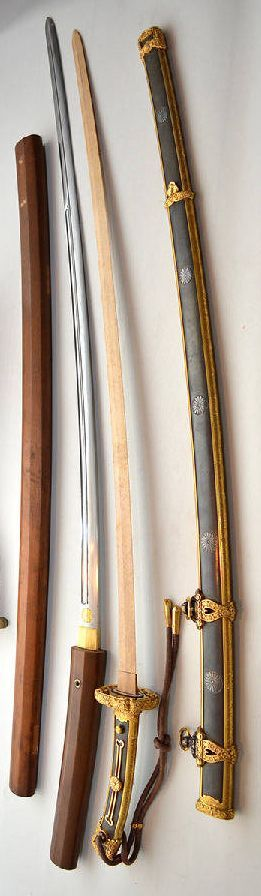 Gensui-to, a sword made for a Marshal-admiral, the highest rank in the prewar Imperial Japanese Navy…