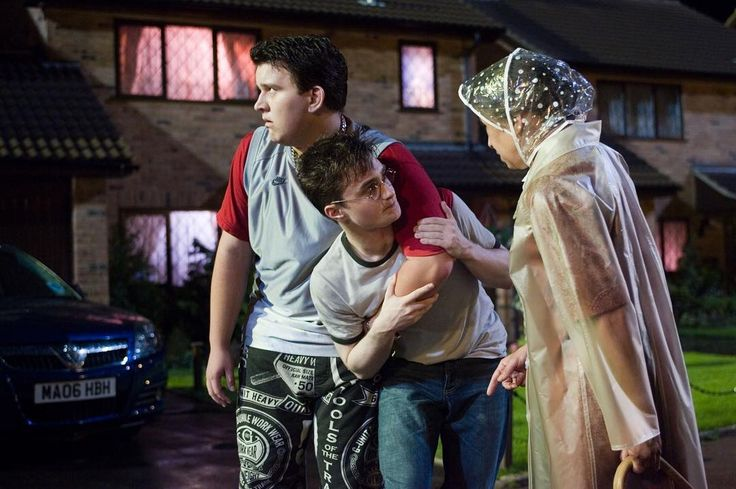 Mrs Figg Dudley And Harry In Ootp Harry Potter Love Daniel Radcliffe Harry Potter