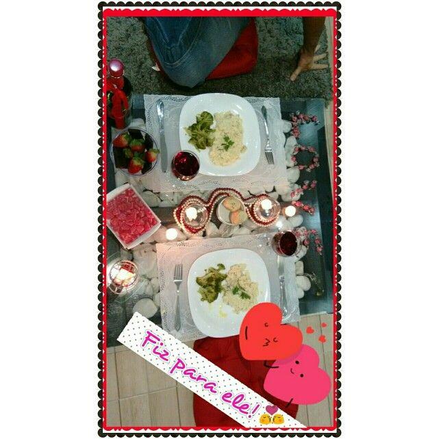 Jantar romântico simples