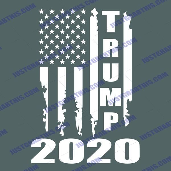 Trump 2020 American Flag Distressed Vintage Silhouette Svg Files For Silhouette Files For Cricut Svg Dxf Eps Png Instant Download In 2020 Silhouette Svg Cricut Trump 2020