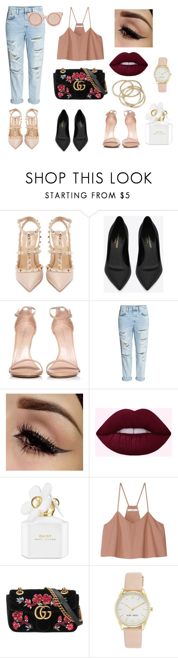 """City kitty"" by sweetlittlebunny on Polyvore featuring moda, Valentino, Yves Saint Laurent, Stuart Weitzman, H&M, Marc Jacobs, TIBI, Gucci, Nine West i ABS by Allen Schwartz"
