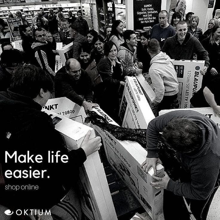 Why struggle just to get your deals in-store?  Pro tip: Make your life easier and shop online. Most stores tend to extend their #CyberMonday deals. Another option is to shop with OKTIUM anytime and anywhere. It's better and convenient you get to shop with a personal assistant that will walk you through the store.  Want to try? Head over to oktium.com for more details.  #Face2YourHappiness #FutureOfRetail #ProTip #B2B #Sales #Retail #Tricks #Shopping