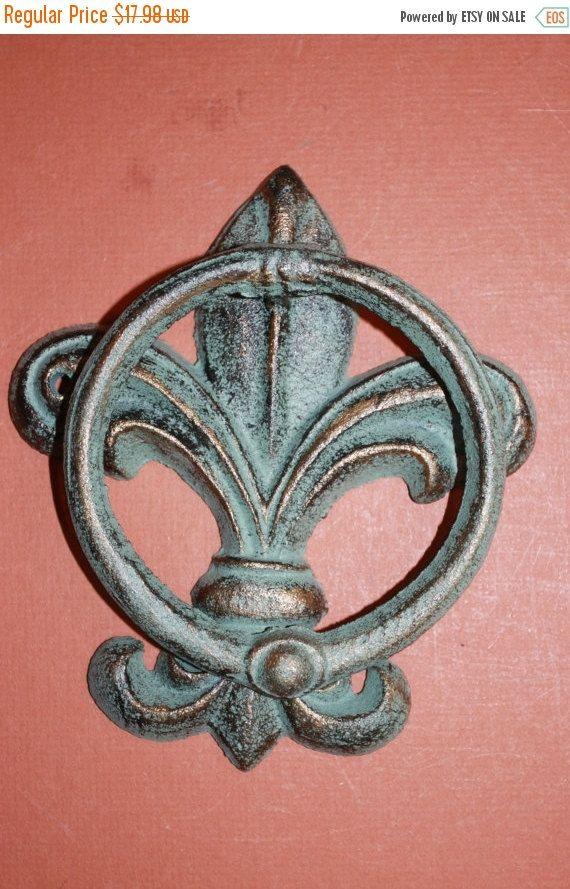 1 Pc Bronze Look Fleur De Lis Door Knocker Free Shipping Decor New Orleans Front F 22