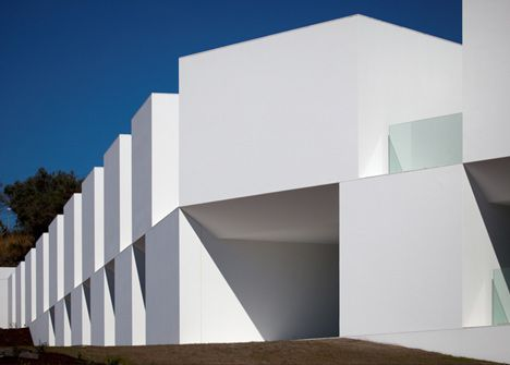 Architectural photographer Fernando Guerra has sent us his images of a nursing home in Alcácer do Sal, Portugal, by Portuguese studio Aires Mateus Arquitectos.