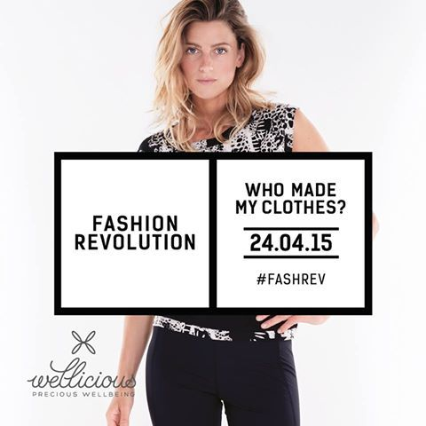 Fashion Revolution - Who made your clothes? At Wellicious we are proud to say that all of our collections are produced in Europe - mostly Portugal, Italy and Germany. We carry out strict checks and often visit our factories to ensure our fair labour standards are maintained. We care about who makes our clothes, who made your clothes?   Turn your clothing labels inside out and show us who made your clothes with the hashtag #FashRevWellicious #EnoughIsEnough