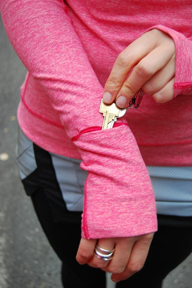 ready for that run? tuck those keys in your sleeve and go! #smooth8drops #cardio #toolsofthetrade