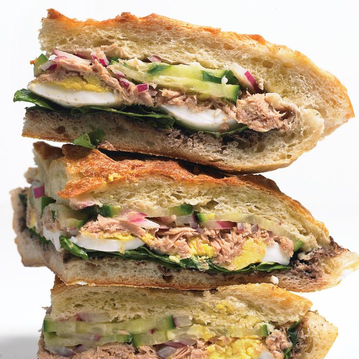 When you're in the mood for something out of the ordinary at lunchtime, these unique sandwiches will hit the spot. Try a tuna sandwich inspired by Nicoise salad, a Vietnamese-style sloppy joe, a muffuletta, Italian braised pork with caramelized apples, or a luxurious lobster roll.