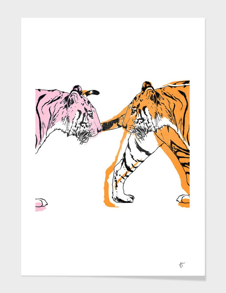 «TIGER LOVE», Limited Edition Art Print by VICTOR ABARCA LIZANA - From $29 - Curioos