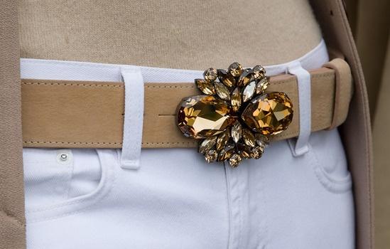 topaz swarovski belt buckle