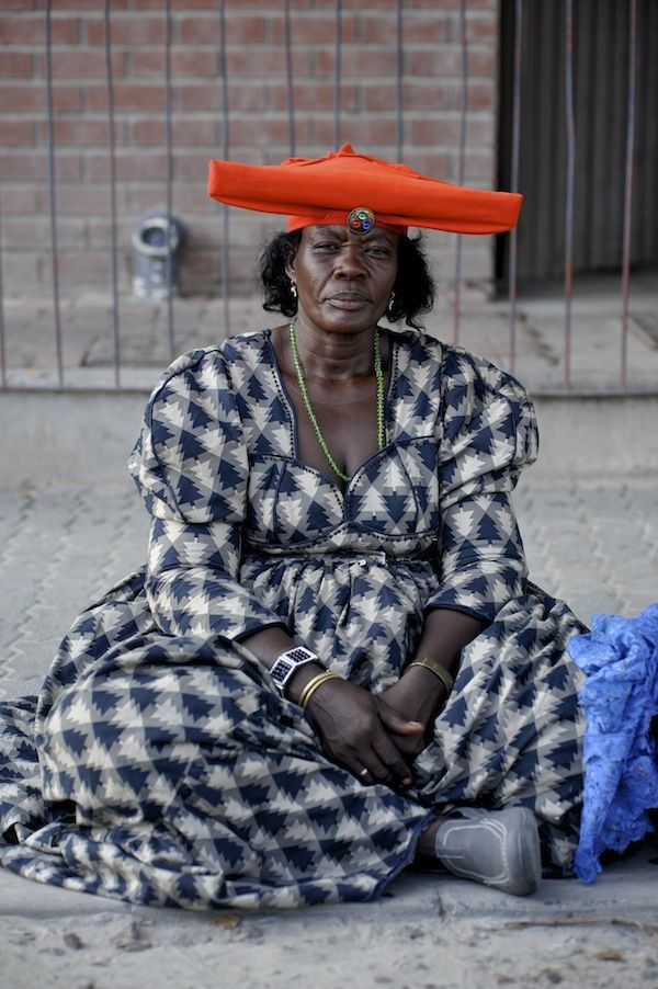 Africa |  People.  The Herero are one of Namibia's main tribes and the women are easily recognizable by their distinctive Victorian look influenced by early German missionaries. Photo taken by Anton Crone