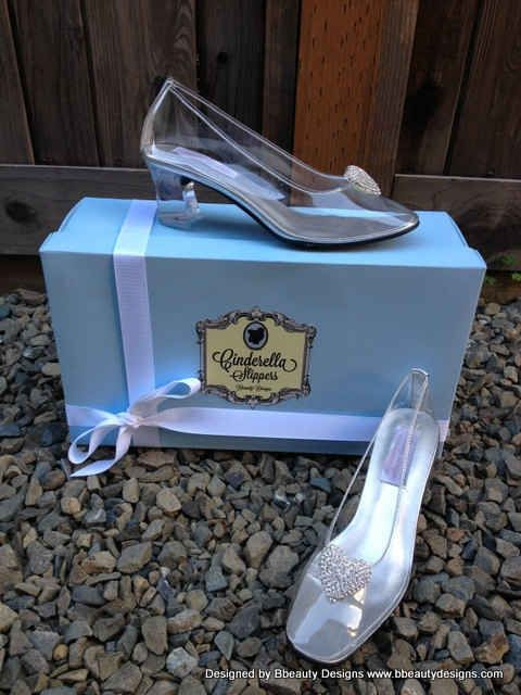 Walk down the aisle in Actual Glass Slippers.