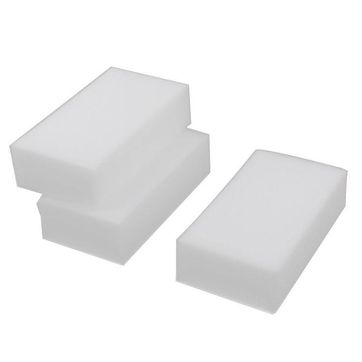 Home Kitchen Pot Pan Dish Melamine Foam Magic Eraser Cleaning Pad White 3pcs