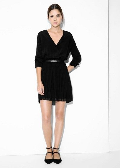 Vestido falda plisada
