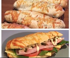 Clone of Subway Bread - Italian Herb & Cheese