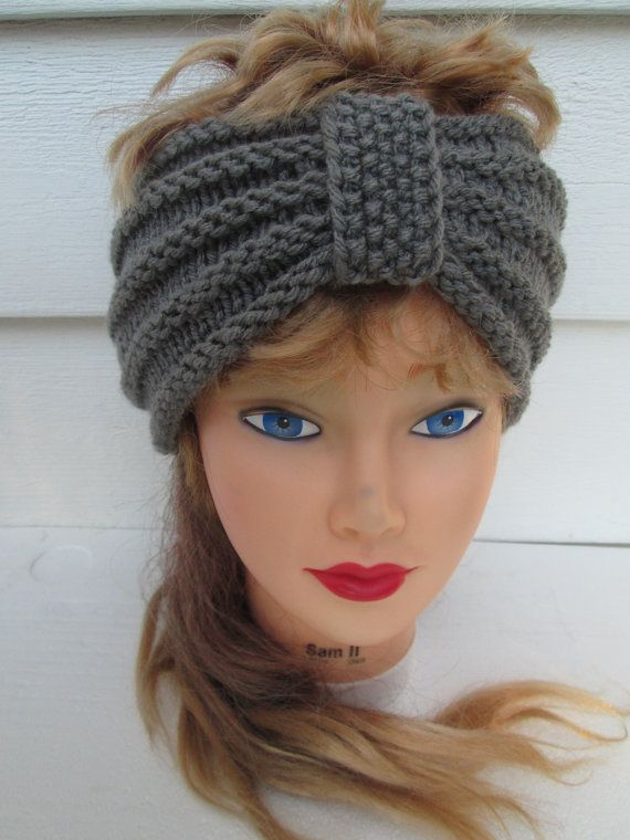 Turban Headband Hand Knit Ear Warmer headband by R…