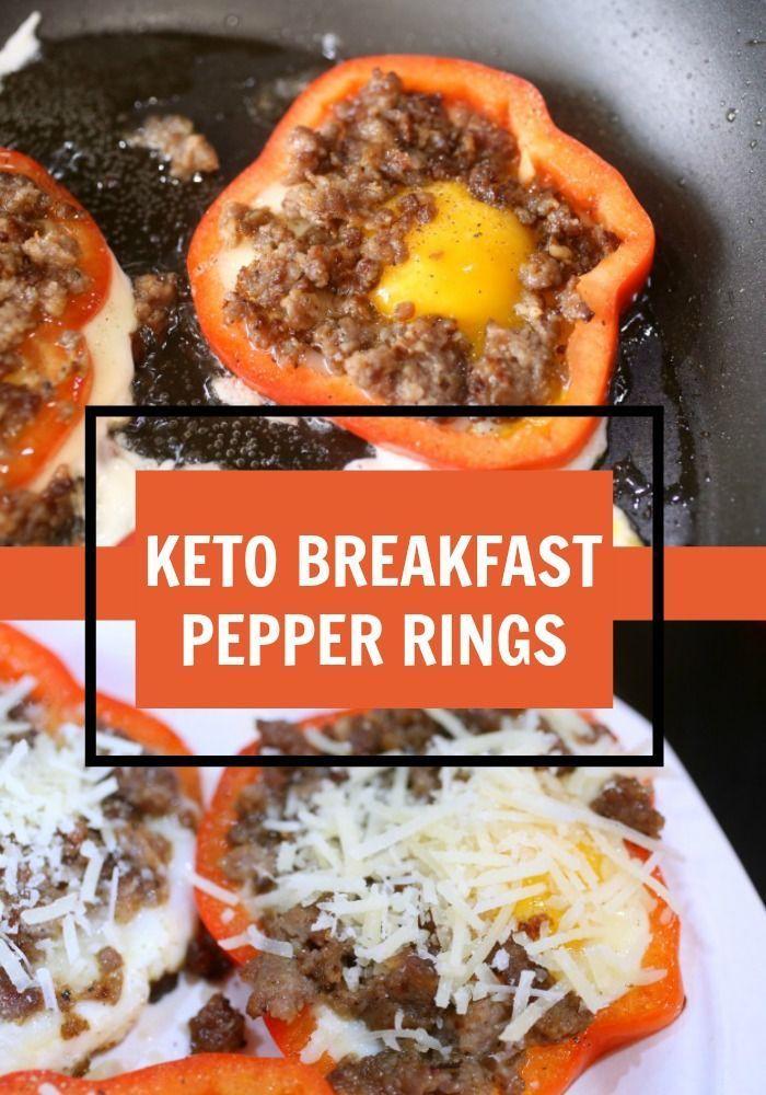 Keto Breakfast Pepper Rings