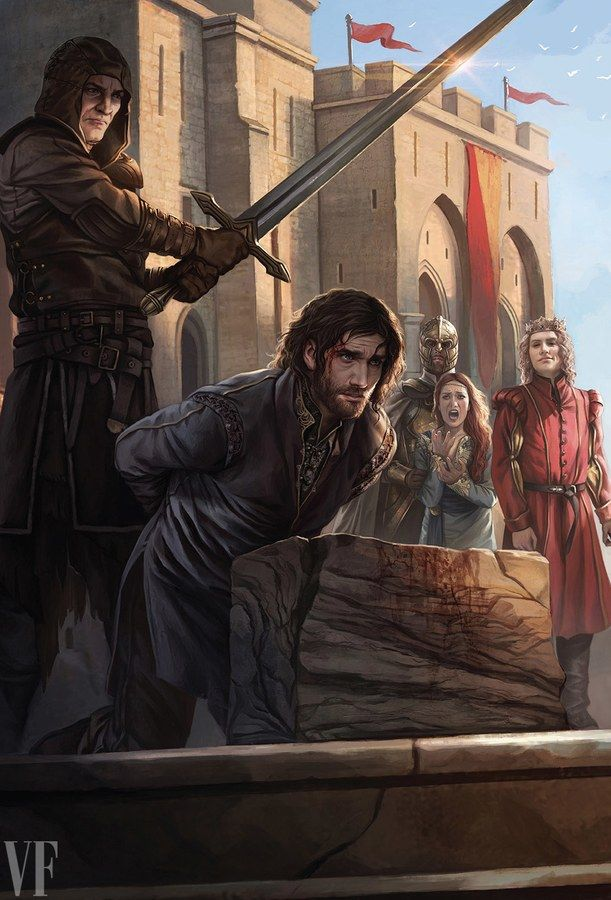 NED STARK'S EXECUTION By Magali Villeneuve/Penguin Random House.
