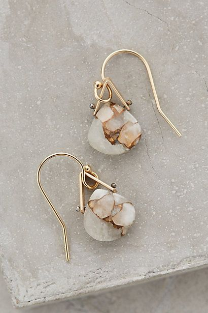 Petite Mineral Earrings #anthropologie  Interesting way to dangle