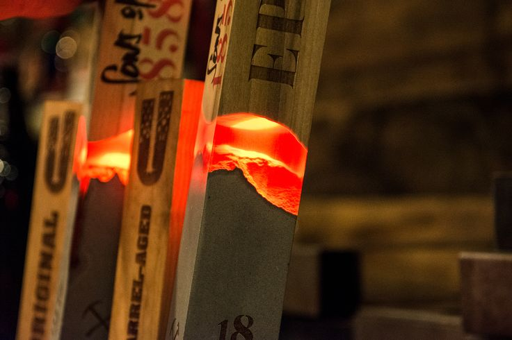 Glowing tap handle design for craft beer brand Sons of 1858 - Vigor