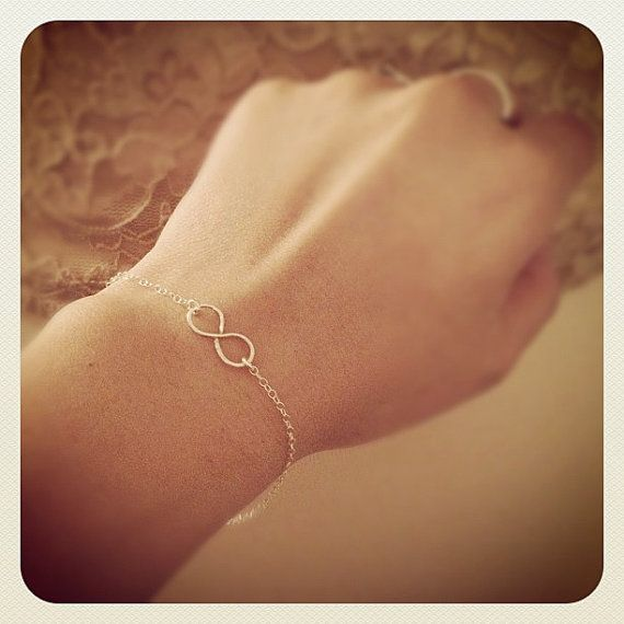 Handmade Infinity Sterling Silver Bracelet   by cocowagner , $19.90