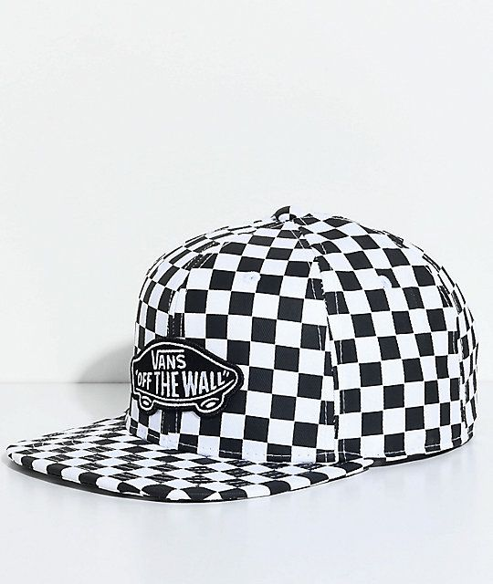 c172ee94cd9 Vans OTW Black   White Checkered Snapback Hat in 2019