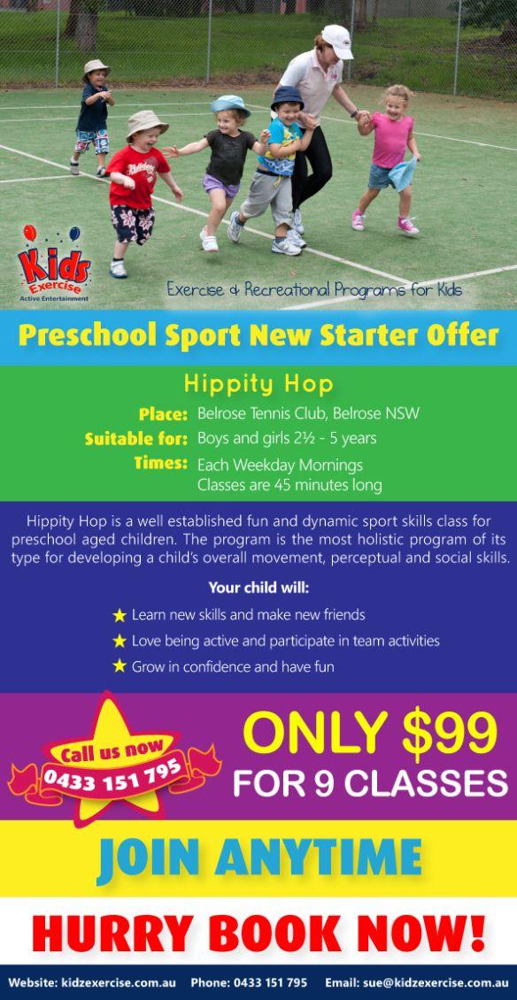 Preschool sport special offer. Belrose 2085