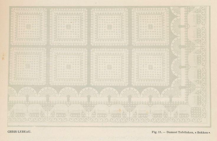 Chris Lebeau. Fig. 11 - Damast tafellaken Bokken