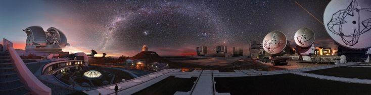 L'ESO, l'Osservatorio Europeo Australe, ha rilasciato le migliori 99 fotografie scattate dai numerosi telescopi presenti nel deserto di Aticama nel Cile. L'ESO è la principale organizzazione intergovernativa di astronomia in Europa con sede in Germania, a Garching, vicino a Monaco. I sistemi
