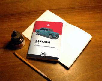 Sketchbook, notebook, Central european car, Zastava, Yugoslavia