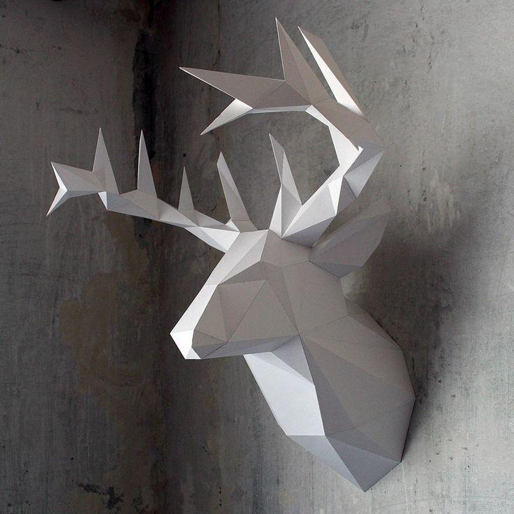 Голова оленя от Ручных динозавров\ The head of a deer by The hand of dinosaurs  #craftup_interiors
